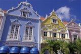 Dutch Gabled Architecture, Oranjestad, Aruba, Caribbean Art Print