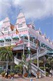 Dutch Architecture of Oranjestad Shops, Aruba, Caribbean Art Print