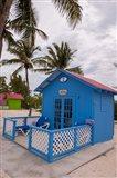 Bahamas, Eleuthera, Princess Cays, beach bungalow Art Print