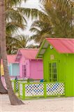 Beach bungalow, Princess Cays, Eleuthera, Bahamas Art Print