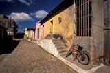 Old Street Scene, Trinidad, Cuba Art Print