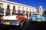 Classic Cars, Old City of Havana, Cuba Art Print