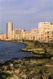 Malecon, Waterfront in Old City of Havana, Cuba Art Print