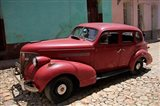 Central America, Cuba, Trinidad Classic American Car In Trinidad Art Print