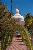 Gazebo path, Riu Palace, Bavaro, Higuey, Punta Cana, Dominican Republic Art Print