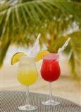 Cocktails on the Beach, Jamaica, Caribbean Art Print