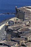 Aerial view of El Morro Fort, Old San Juan, Puerto Rico Art Print