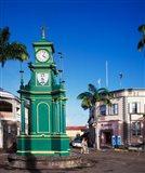 The Circus and Berkeley Monument, Basseterre, St Kitts, Caribbean Art Print