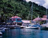 Sopers Hole Wharf, Pussers Landing, Frenchmans Cay, Tortola, Caribbean Art Print
