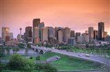 Skyline of Calgary, Alberta, Canada Art Print