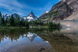 Mount Assiniboine Reflected In Sunburst Lake Art Print