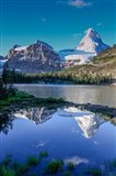 Mount Assiniboine And Mount Magog As Seen From Sunburst Lake Art Print