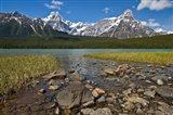 Alberta, Rocky Mountains, Banff NP, lake fed by snowmelt Art Print