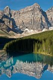 Morning, Moraine Lake, Reflection, Canadian Rockies, Alberta, Canada Art Print