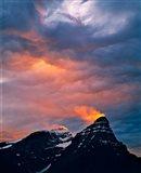 Alberta, Mt Chephren, Sunset light in Banff NP Art Print
