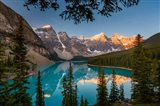 Alberta, Banff National Park, Moraine Lake At Sunrise Art Print