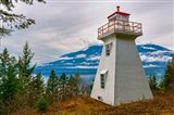Pilot Bay Lighthouse At Pilot Bay Provincial Park, British Columbia, Canada Art Print