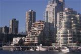 Vancouver Skyline From Granville Island, British Columbia, Canada Art Print