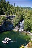 Waterfall, Desolation Sound, British Columbia Art Print