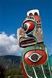 Totem poles, Gold River, Vancouver, British Columbia Art Print