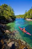 British Columbia, Vancouver Island, Sea kayakers Art Print