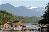 British Columbia, Vancouver Island, Tofino, Floating houses Art Print