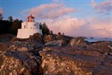 Amphitrite Lighthouse, Vancouver Is, British Columbia Art Print
