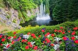Butchart Gardens Water Fall, Victoria, British Columbia, Canada Art Print