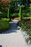 Trail Through the Butchard Gardens, Victoria, British Columbia, Canada Art Print