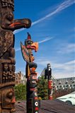 British Columbia, Victoria, Native American Totems Art Print
