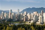 Skyline of Vancouver, British Columbia, Canada Art Print