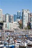 Marina on False Creek, Downtown Vancouver, BC, Canada Art Print