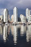 Buildings along False Creek, Vancouver, British Columbia, Canada Art Print