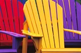 Colorful Adirondack Chairs Art Print