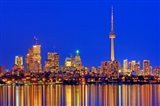 Toronto Skyline At Dusk Art Print