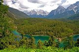 Alpine Lake in the Austrian Alps Art Print