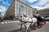 Horse Drawn Carriage in Vienna Art Print