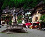 Village of Hallstatt, Salzkammergut, Austria Art Print