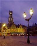 Burg Square, Bruges, Belgium Art Print