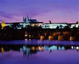 Hradcany Palace and Vltava River Art Print