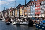 Colorful Buildings, Boats And Canal, Denmark, Copenhagen Art Print