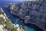 Limestone Cliffs,Provence, France Art Print