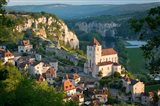 Early Morning Over Saint-Cirq-Lapopie, Lot Valley, France Art Print