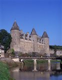 Josselin Chateau and River Oust, Brittany, France Art Print