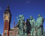Town Hall and Six Burghers, Calais, France Art Print