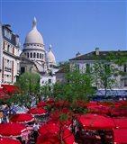 Place Du Tertre, Montmartre, Paris, France Art Print