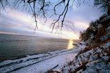 Snowy Coastline, Jasmund National Park Art Print