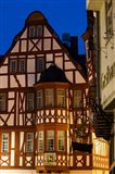 Germany, Hesse, Limburg An Der Lahn, Half-Timbered Building, Dawn Art Print