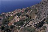 View from Upper to Lower Village, Monemvasia, Greece Art Print
