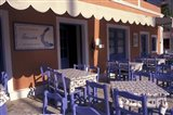 Outdoor Restaurant, Kefallonia, Ionian Islands, Greece Art Print